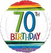 Folieballon rainbow '70' (43cm)