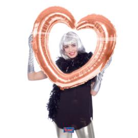 Folieballon selfie hart rose