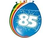Ballonnen 85 jaar (assorti kleuren)
