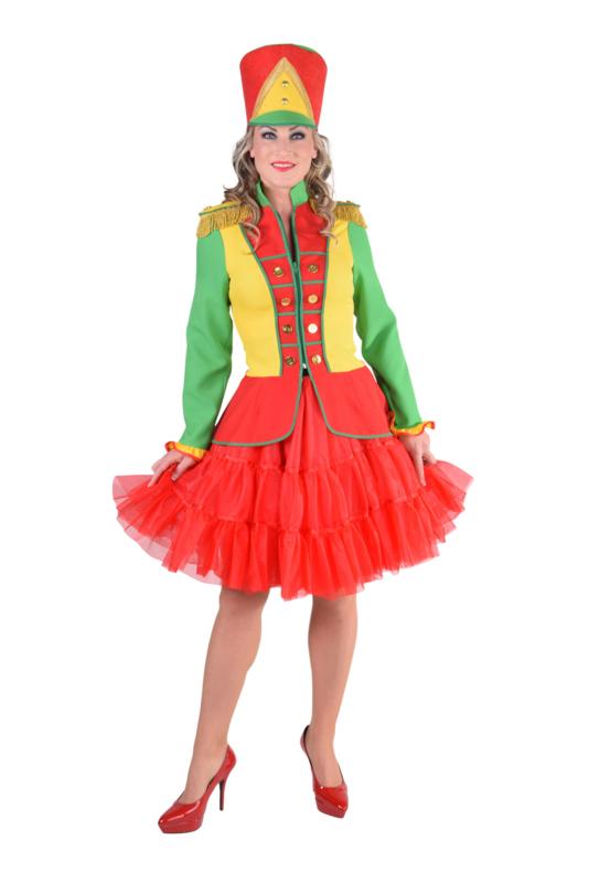 Harmonie jas rood geel groen | Feestkleding heren