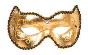 Oogmasker goud deluxe