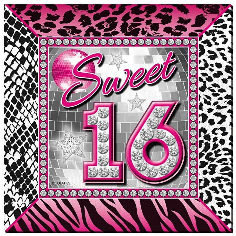 Verjaardag Meiden 16 Jaar.Sweet 16 Servetten Sweet 16 Versieringen Goedkope