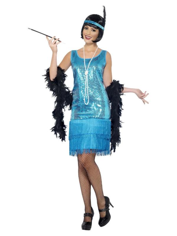 Funtime flapper kostuum blauw