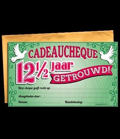 Cadeau Cheque 125 Jaar Getrouwd Cadeau Cheques Goedkope