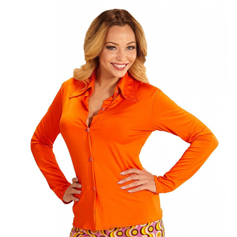 Groovy 70's  dames shirt oranje