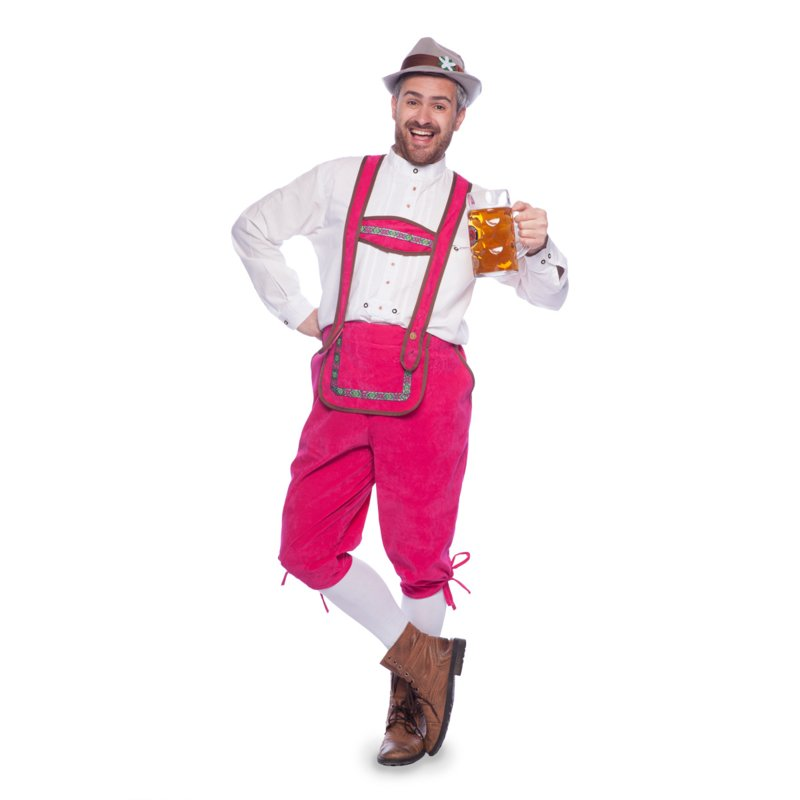 Tirolerbroek pink easy