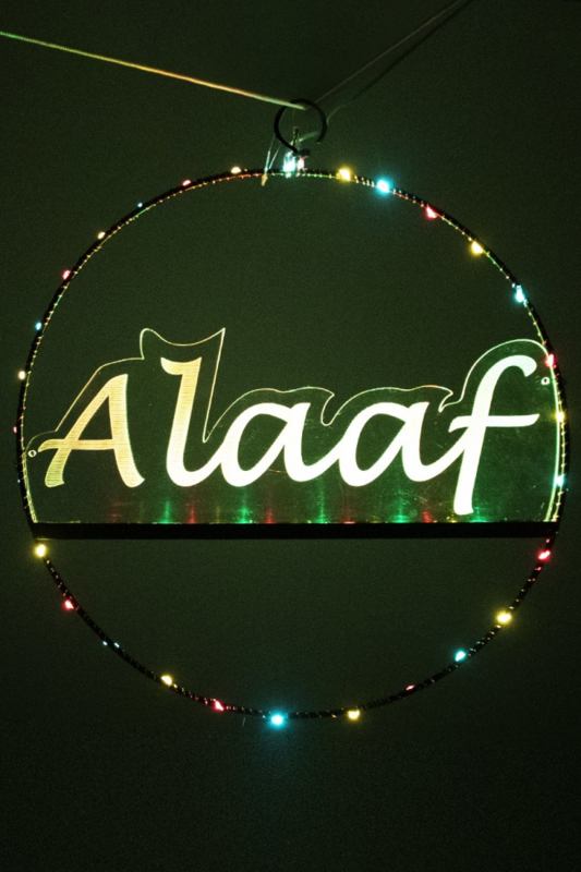 Licht deur cirkel 35cm met Alaaf