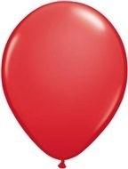 Kwaliteitsballon standaard - rood - 10 stuks