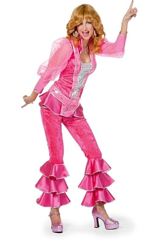 Disco kostuum pink