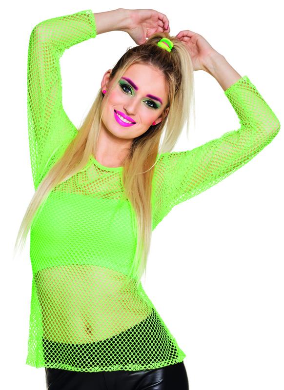 Netshirt Neon groen 80's