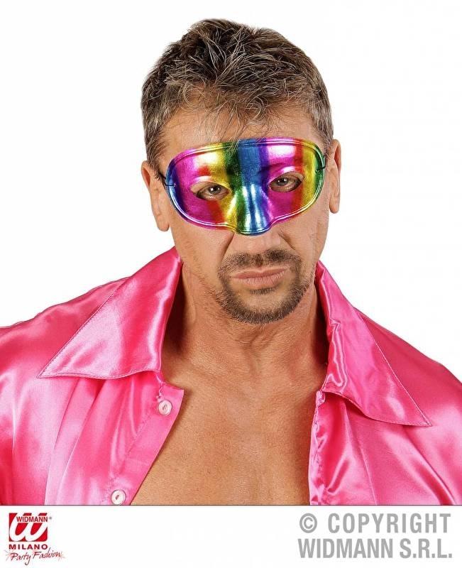 Oogmasker metallic regenboog