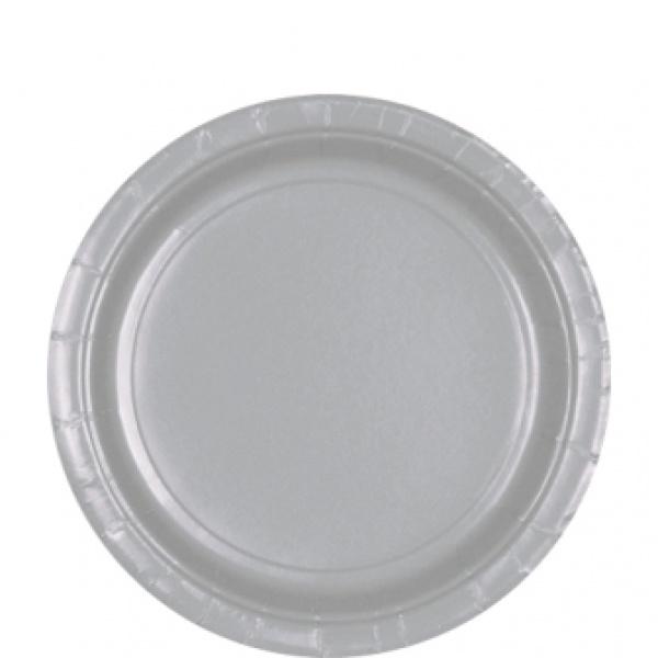 Zilveren bordjes