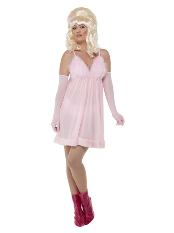 60's Glamour Babydoll set Pink