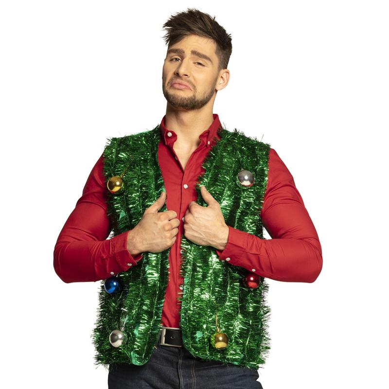 Kerstboom vest bling bling kerst