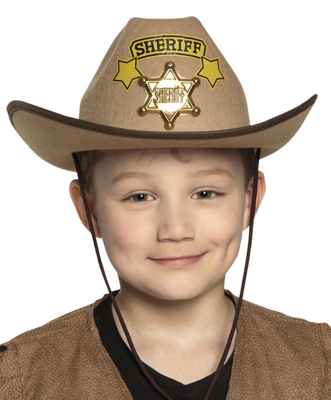 Kinder cowboy hoed sheriff