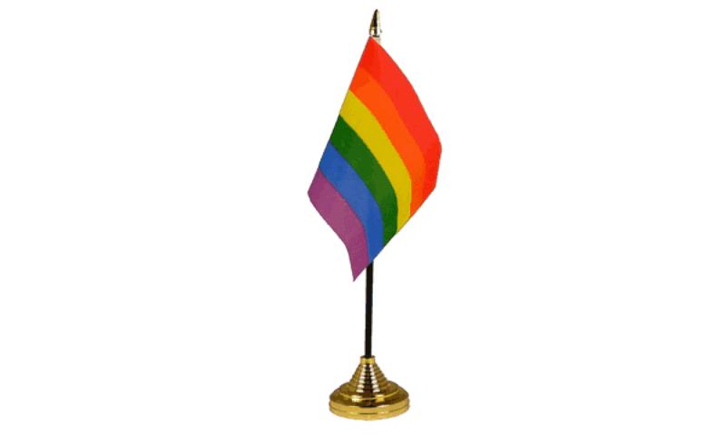 Regenboog tafel vlag