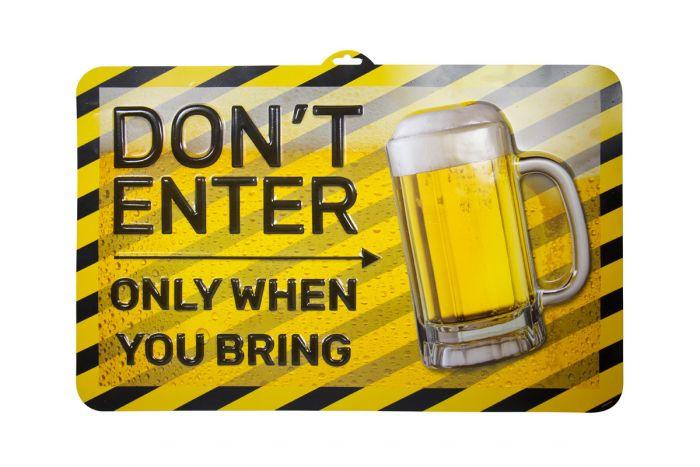Wanddeco 3D Bier party