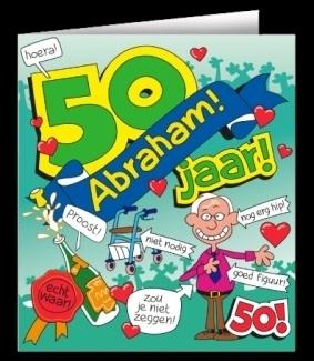 Beste Fun wenskaart 50 jaar Abraham | Wenskaarten | Goedkope VI-95