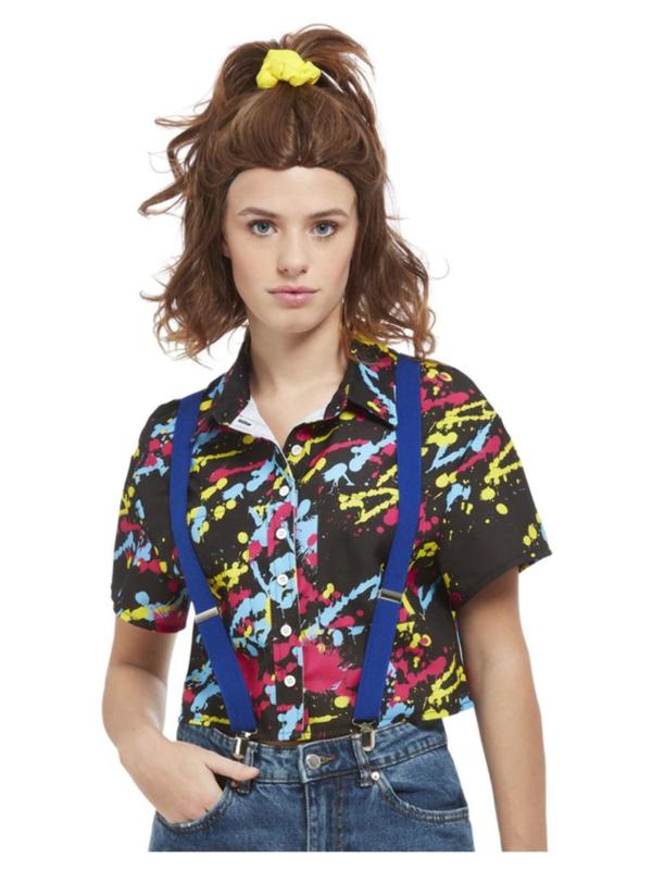 80's Paint Splatter Print Shirt
