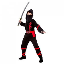 Power ninja kostuum zwart