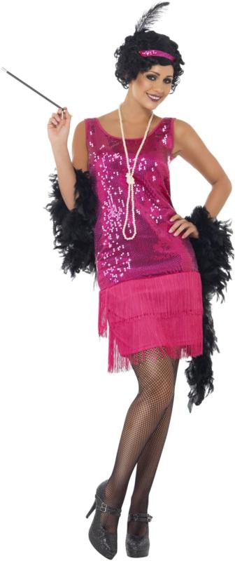 Funtime flapper kostuum hotpink