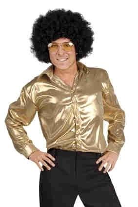 Disco shirt shiny Goud