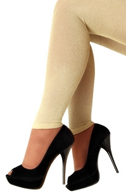Legging lurex goud