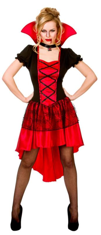 Rood Jurkje Goedkoop.Vampiers Jurkje Glamour Feestkleding Dames Goedkope