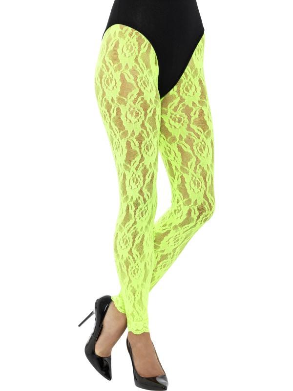 80's Legging kant neon groen