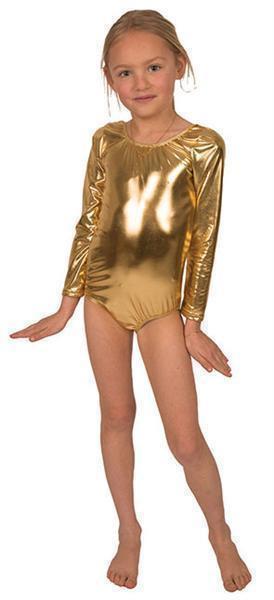 Dance body suit goud