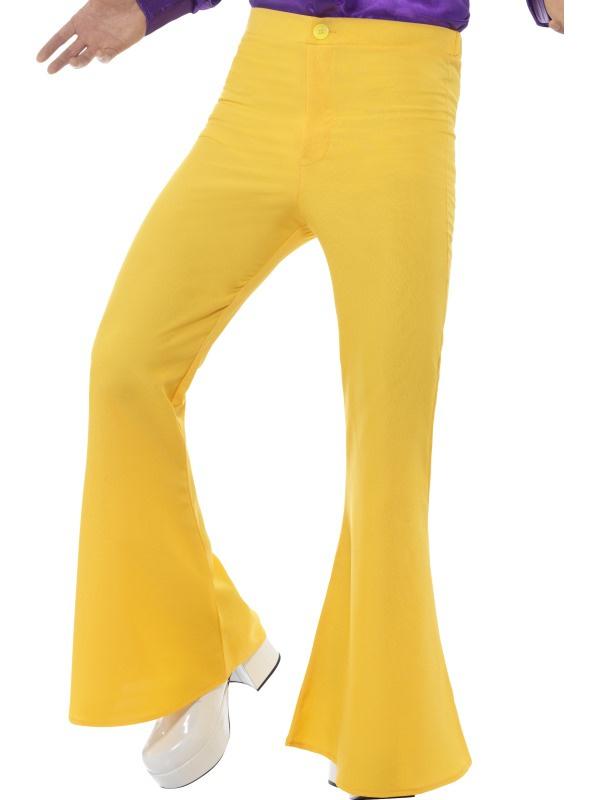 Disco 70's broek geel | Feestkleding heren | Goedkope