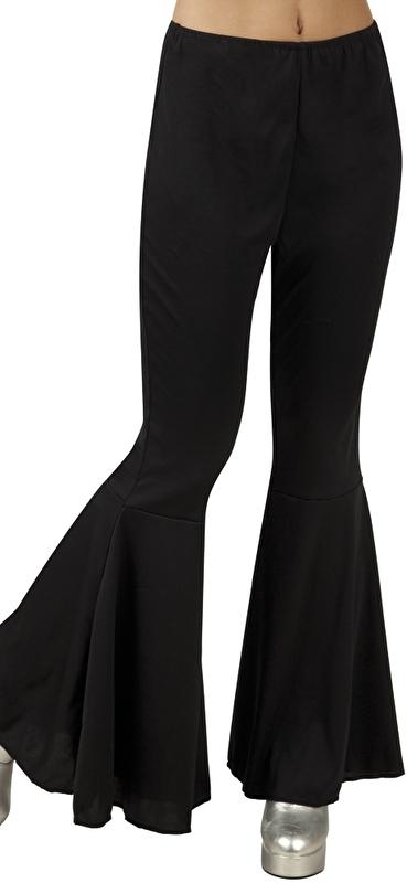 Uitgelezene Discobroek wijde pijpen zwart   Feestkleding dames   Goedkope FK-58