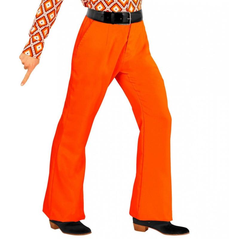 Groovy 70's heren broek oranje | Feestkleding heren