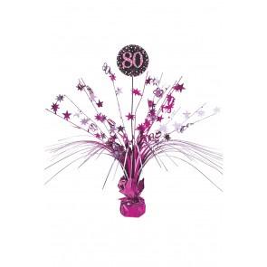 Tafel deco sparkling pink 80