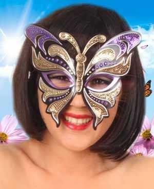 Oogmasker vinyl vlinder
