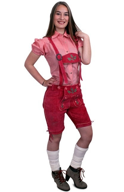 Lederhose pink Deluxe