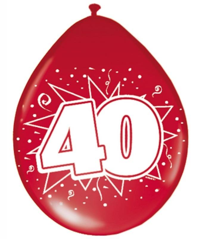 Ballonnen 40 Jaar Getrouwd Thema Ballonnen Bedrukt