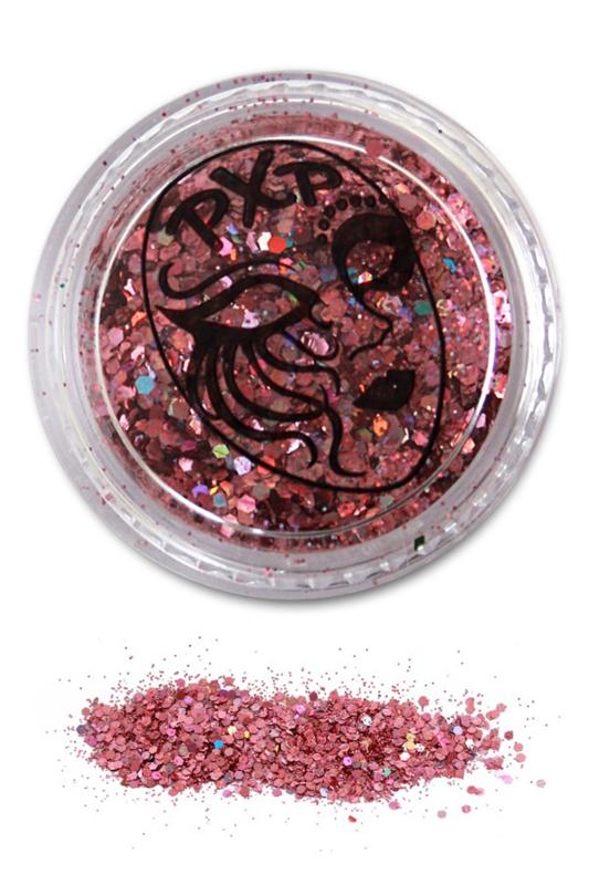 Glitters powder pink fijn