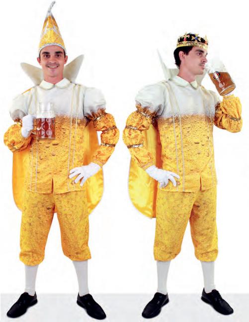 Prins Carnaval bier kostuum