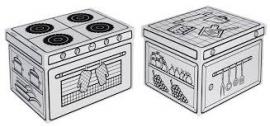 Kartonnen keuken doos 2 stuks Joypac
