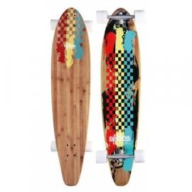 Longboard 42'' Kicktail Bamboo Rasta (52OV-RGG) GRATIS VERZENDING