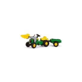 Tractor Rolly Toys Rollykid John Deere met aanhanger + lader