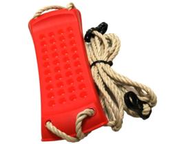 Rode Schommel met touwen