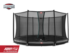 BERG Inground Champion Grijs + Safety Net Comfort