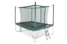 Pro-Line trampoline + net boven + ladder (TEPL/ AVGR-Combi)
