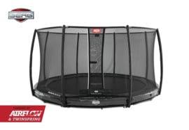 BERG Inground Elite Grijs + Safety Net Deluxe