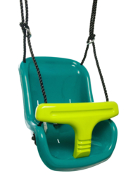 KBT Babyzitje `luxe` Turquoise/limoen groen
