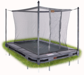 Pro-Line Inground Trampoline HD Plus + Vangnet Rechthoekig
