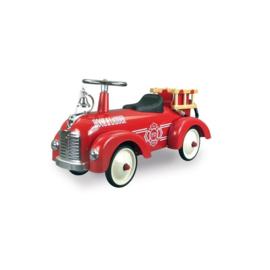 Metalen Loopauto Retro Roller Speedster Sam - brandweer rood