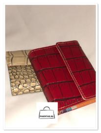 Portemonnee / kroko grof / klein / kleur Rood